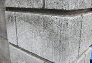門柱(コンクリートブロック)の欠けの補修